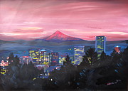 M Bleichner - Portland Oregon with Red...