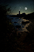 Maine Lighthouses Photo Posters - Portland Shines Poster by Emily Stauring