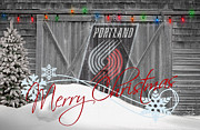 Dunk Posters - Portland Trailblazers Poster by Joe Hamilton