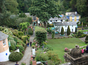Wales Framed Prints Posters - Portmeirion Tilt Shift Poster by Michelle Orai
