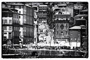 Crowds  Prints - Porto Historic Center Print by John Rizzuto