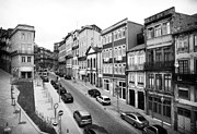 Old School House Prints - Porto Street Parking Print by John Rizzuto