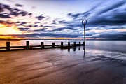 Scottish Landscape Print Framed Prints - Portobello Beach Framed Print by John Farnan