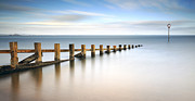 Scotland Images Framed Prints - Portobello Groynes Framed Print by Grant Glendinning