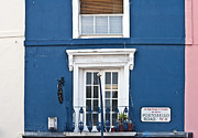 Quirky Framed Prints - Portobello Road Windows Framed Print by Georgia Fowler