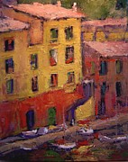 Portofino Afternoon Print by R W Goetting
