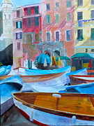 Portofino Italy Artist Paintings - Portofino by Barbara Lynn Dunn
