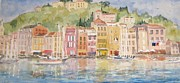 Portofino Italy Paintings - Portofino by Brian Tucker