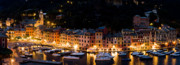 Portofino Italy Prints - Portofino Evening Print by Carl Amoth