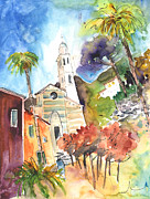 Portofino Italy Drawings - Portofino in Italy 05 by Miki De Goodaboom