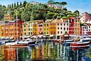 Roger Turner Framed Prints - Portofino Framed Print by Roger Turner