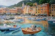 Portofino Italy Paintings - Portofino by Vladimir Troitsky