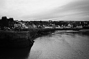 Overcast Day Posters - Portpatrick Village And Breakwater Scotland Uk Poster by Joe Fox