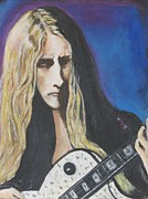 Intense Paintings - Portrait Alice In Chains Jerry Cantrell by Chaline Ouellet