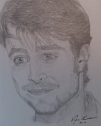 Celebrity Portraits Drawings - Portrait Daniel Radcliffe by Melissa Nankervis