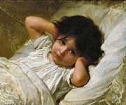 Marie Louise Framed Prints - Portrait de Marie-Louise  Framed Print by Emile Munier
