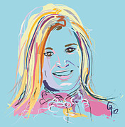 Famous People Paintings - Portrait Maxima by Go Van Kampen