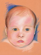 Human Pastels Prints - Portrait of a Baby Print by MM Anderson