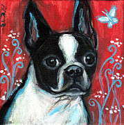 Boston Paintings - Portrait of a BT by Angie  Ketelhut