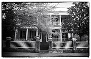 Old School House Photos - Portrait of a Charleston House by John Rizzuto