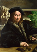 Famous Artists - Portrait of a Collector by Parmigianino