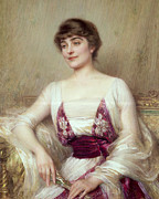 Serenity Paintings - Portrait of a Countess by Albert Lynch