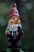 Bokeh Prints - Portrait of a Garden Gnome Print by Amy Cicconi
