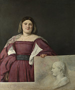 Tiziano Vecellio Prints - Portrait of a Lady Print by Titian