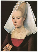 Rogier Van Der Weyden Posters - Portrait of a Lady Poster by Workshop of Rogies Van Der Weyden