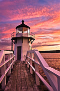 New England Lighthouse Prints - Portrait of a Lighthouse Print by Benjamin Williamson