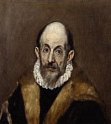 Famous Artists - Portrait of a Man by El Greco