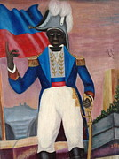 Haitian Paintings - Portrait of a Revolunionist by Haitian artist