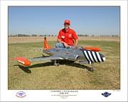 Jet-powered Metal Prints - Portrait of a Shooting Star - Jeff Lovitt and his Lockheed T-33 Metal Print by Ken Young
