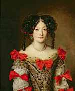 Necklace Paintings - Portrait of a Woman by Jacob Ferdinand Voet