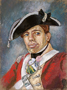 American Revolution Pastels - Portrait of a Young Officer by Jennifer Richard-Morrow