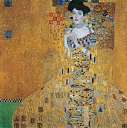 Ancient Jewelry Framed Prints - Portrait of Adele Bloch-Bauer I Framed Print by Gustav Klimt