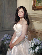 Cotillion Paintings - Portrait of Allison by Chris  Saper
