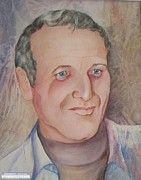 Died Originals - Portrait of American artist and actor  Paul Newman by Georgia Annwell