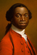 African American Male Framed Prints - Portrait of an African Framed Print by Allan Ramsay
