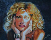 Female Artist Prints - Portrait of an Artist Print by Shirl Theis