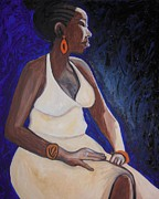 Metal Sheet Framed Prints - Portrait of an Ethiopian Woman Framed Print by Esther Newman-Cohen