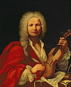 Wig Paintings - Portrait of Antonio Vivaldi by Italian School