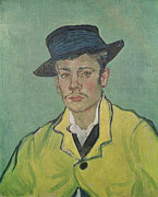 Green Jacket Prints - Portrait of Armand Roulin Print by Vincent Van Gogh