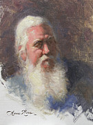 White Beard Metal Prints - Portrait of Artist Michael Mentler Metal Print by Anna Bain