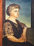 Chirico Posters - Portrait of artists mother by Giorgio de Chirico Poster by Stefano Baldini