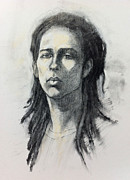 Sketches Drawings Originals - Portrait of Ash by Roz McQuillan