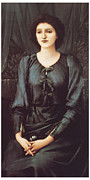 Woman In Black Dress Paintings - Portrait of Baronne Madeleine Deslanders by Edward Burne-Jones