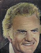 Christian Tapestries - Textiles - Portrait of Billy Graham done by my father by Anne-Elizabeth Whiteway