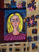 Maggis Art - Portrait of Blond Lady