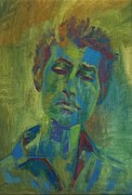 Bob Dylan Painting Originals - Portrait of Bob Dylan by Eileen Goodman
